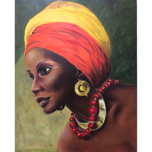 Elly Baard olieverf schilderi 'Red Neckless'