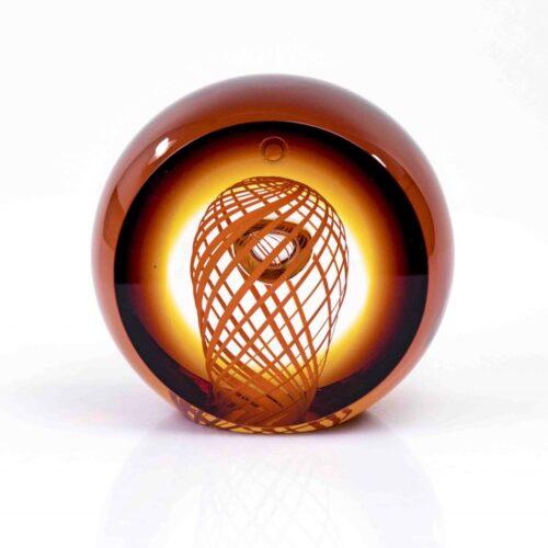 Loranto Ozzaro Kristal object 'Oranje Bruin'