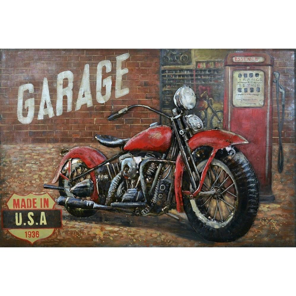 Metal Art 3D schilderij 'De garage'
