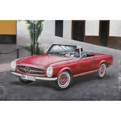 Metal Art 3D schilderij 'Mercedes 190 SL'