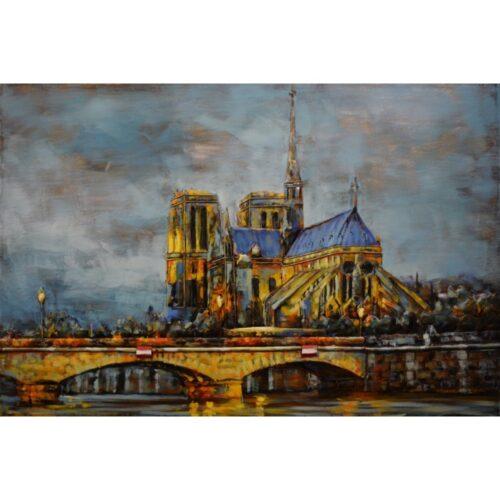 Metal Art 3D schilderij 'Notre Dame in Parijs'