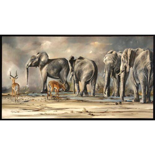 Vanessa Lomas schilderij 'Amongst Giants'