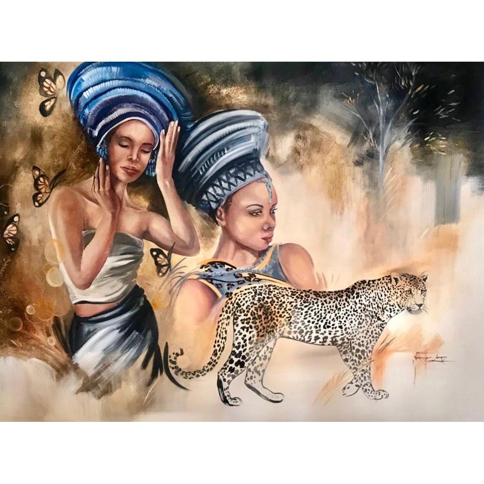 Vanessa Lomas schilderij 'Arrival of the Monarch'