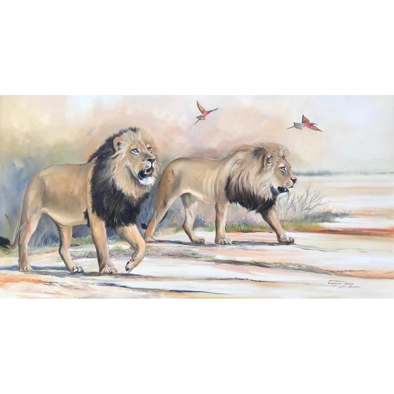 Vanessa Lomas schilderij 'Dawn Patrol'
