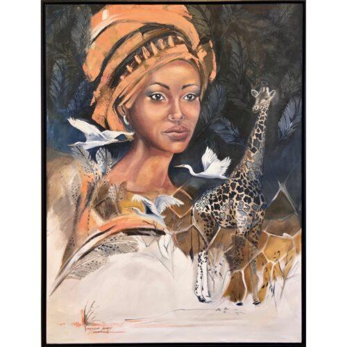 Vanessa Lomas schilderij 'Princess Savanna'