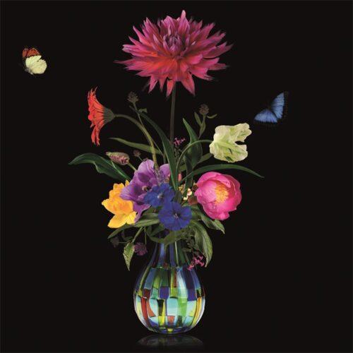 Foto op aluminium 'Flower Vase I'