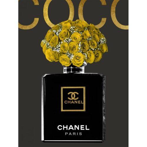 Foto op glas 'Chanel Roses'