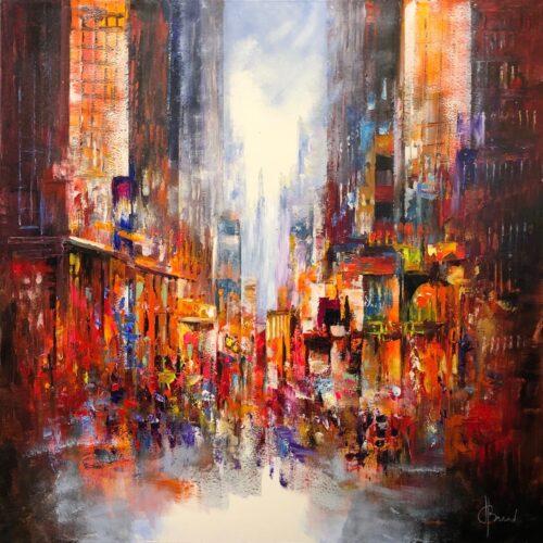Henry Brand schilderij 'Abstract City'