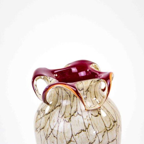 Loranto glas Vaas 'Marmer Rood 30 cm'