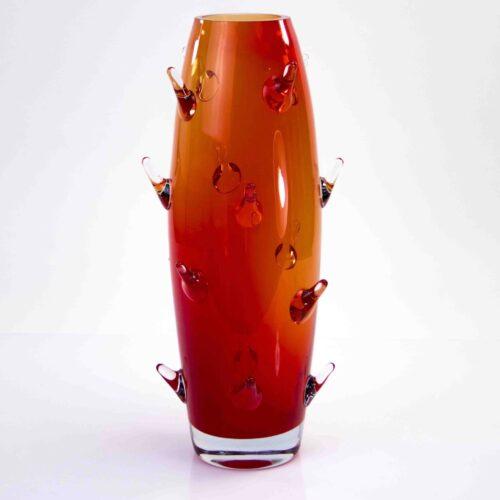 Loranto glas Vaas 'Rode Cactus'