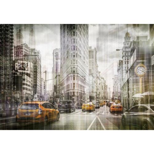 Foto op glas 'New York'