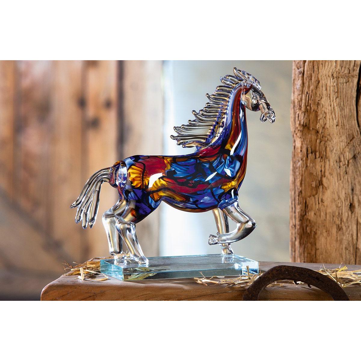 Gilde glas sculptuur 'Cavallo'