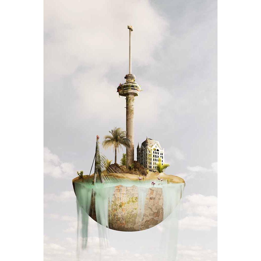 Sander du Floo fotocompilatie 'Rotterdam I'