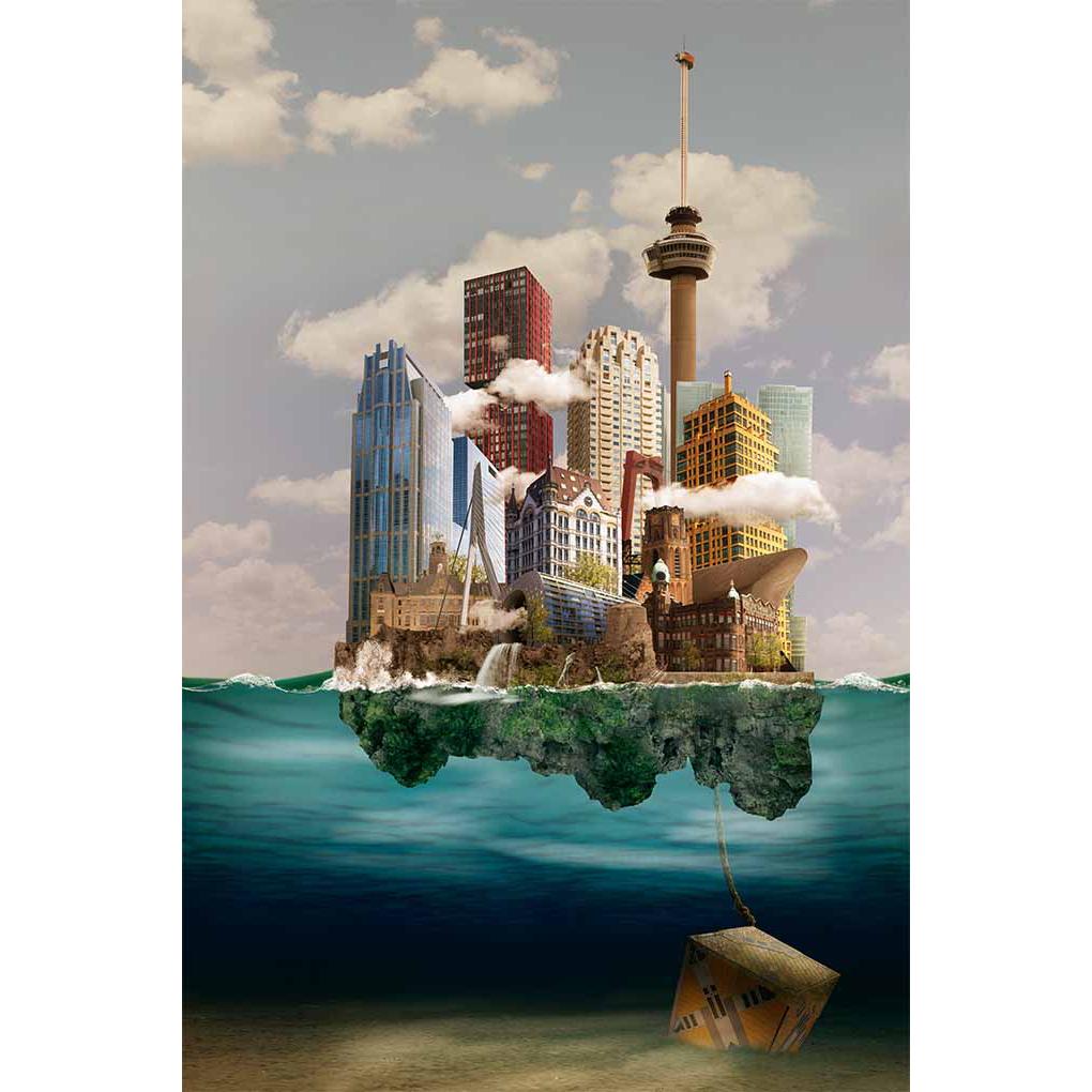 Sander du Floo fotocompilatie 'Rotterdam II'