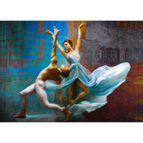 Tos Kostermans schilderij 'Dance of freedom'