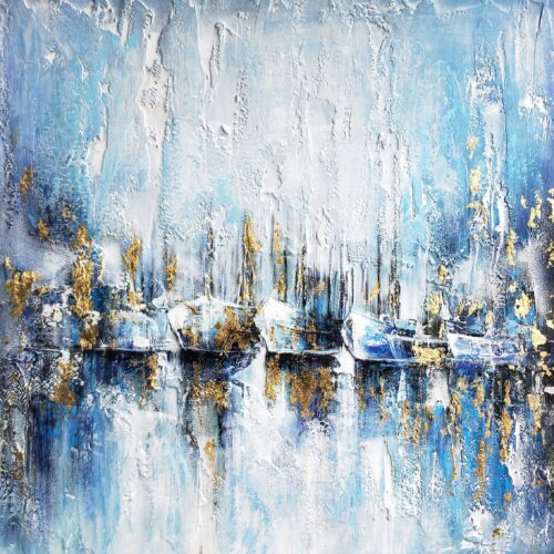 DecoArt schilderij 'Abstract Harbour'
