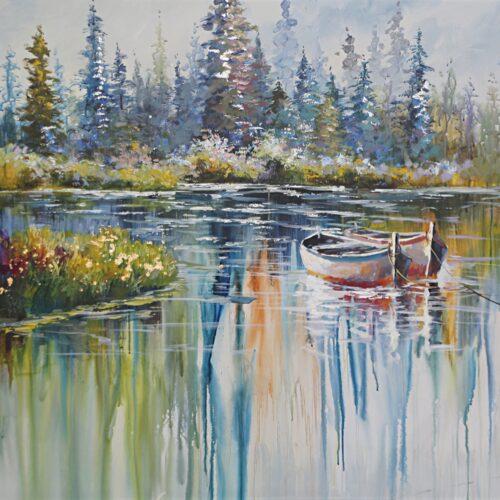 DecoArt schilderij 'Kleurrijk landschap'
