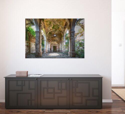 Urbex foto op plexiglas 'Binnenplaats'