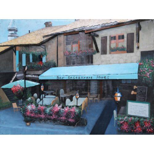 Metal Art 3D schilderij 'Bar-Restaurant'