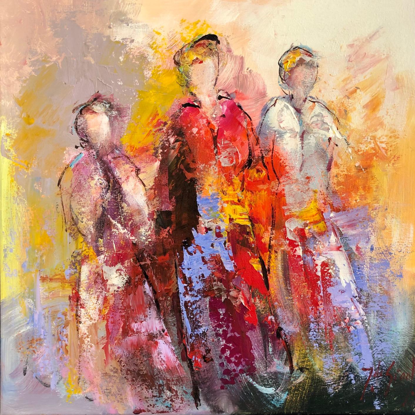 Jochem de Graaf schilderij 'Girlfriends I'