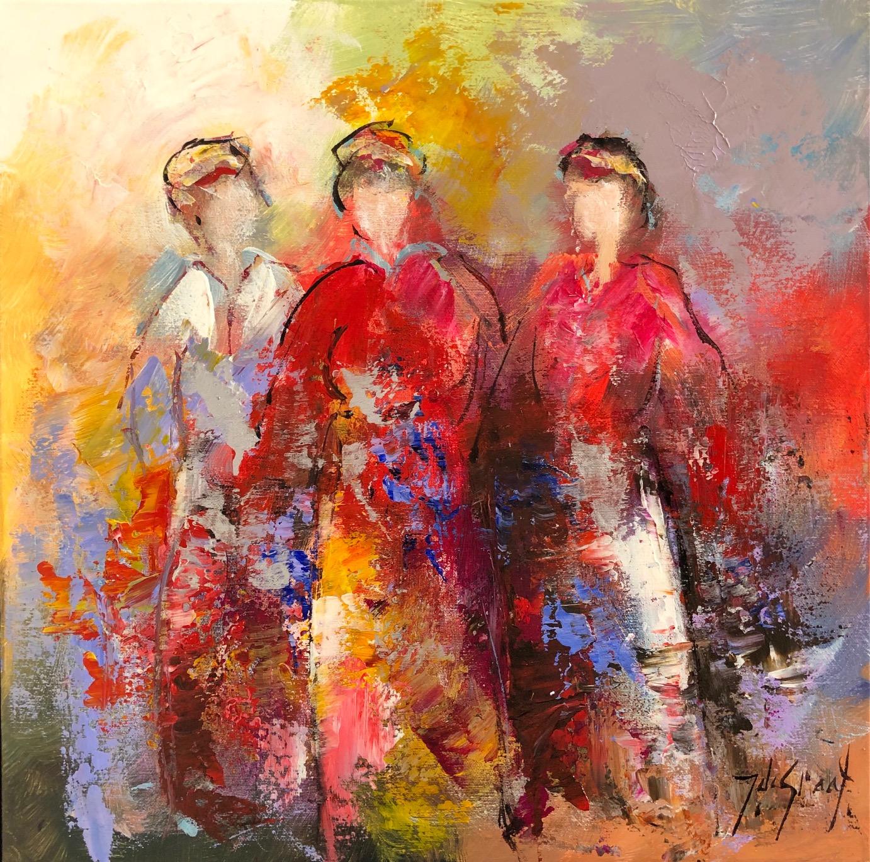 Jochem de Graaf schilderij 'Girlfriends II'