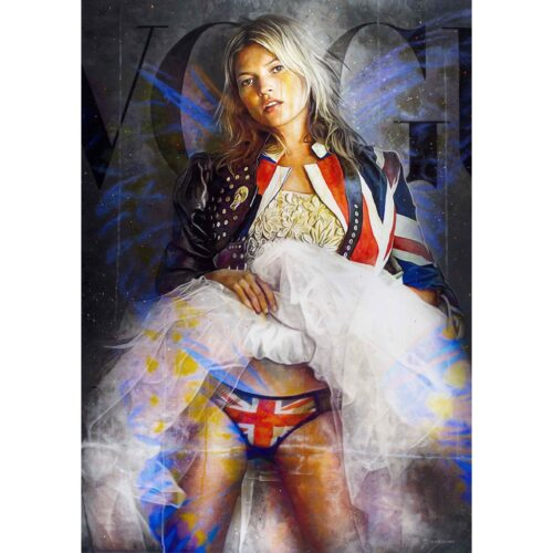 Tos Kostermans Mixed Media 'Kate Moss, Queen of Voque'