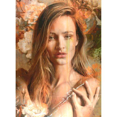 Tos Kostermans schilderij 'Rococo girl'