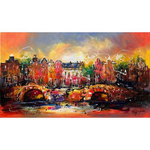 Casper van Houten schilderij 'Amsterdam'