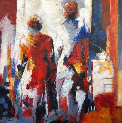 Ricky Damen schilderij 'Passing'