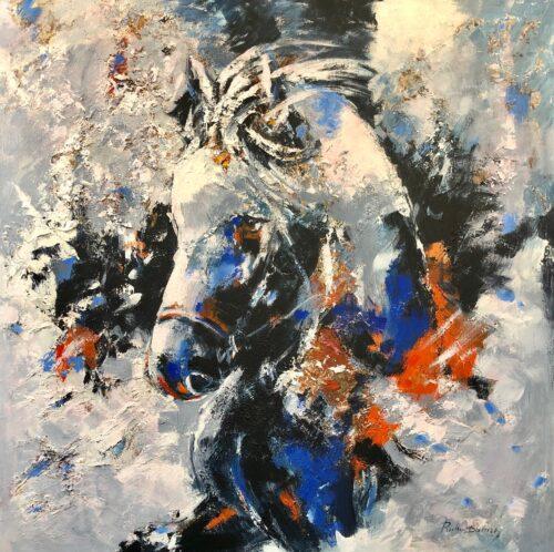 Ricky Damen schilderij 'Blue Pony'