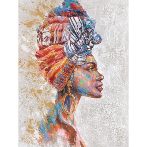 Schilderij 'Woman with turban IV'