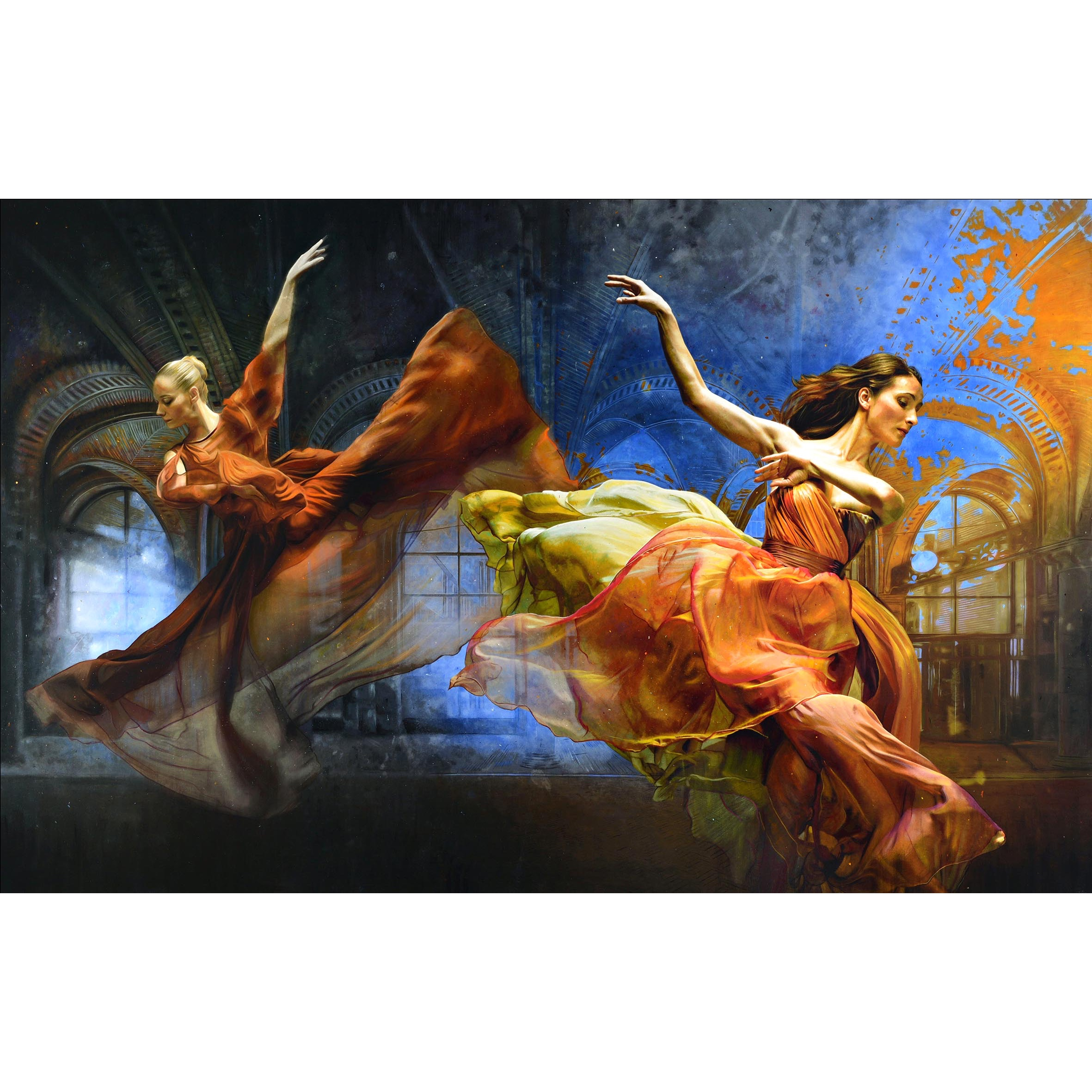 Tos Kostermans Mixed Media 'Muses of dance and art'