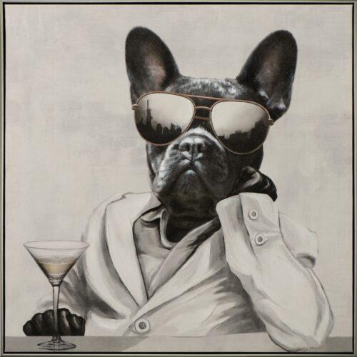 Schilderij 'New York Dog Mafioso I'