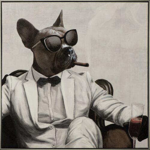 Schilderij 'New York Dog Mafioso II'