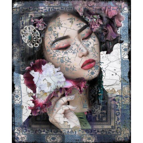 Hans Jochem Bakker schilderij 'Asian Floral'