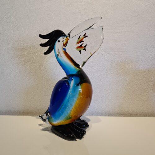 Design glas beeld 'Gekleurde Pelikaan'