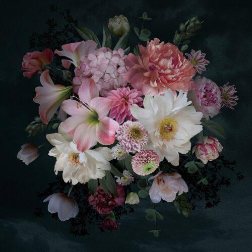 Foto op glas 'Pretty Flower Bouquet'