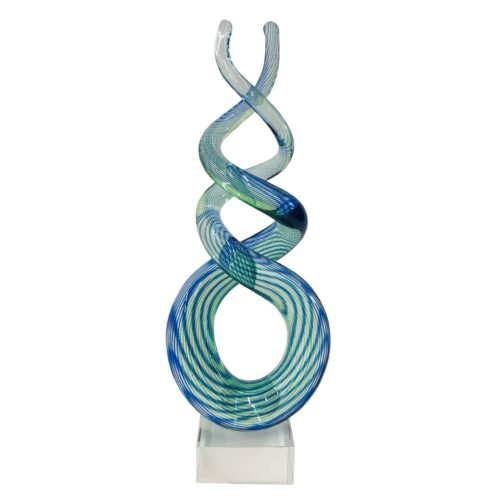Design glas beeld 'Spiraal'