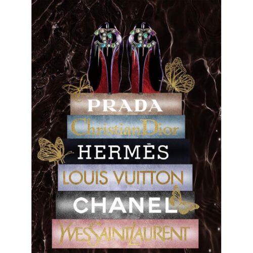 Foto op glas 'Fashion Books I'