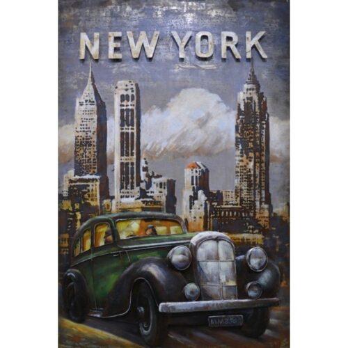 Metal Art 3D schilderij 'New York'
