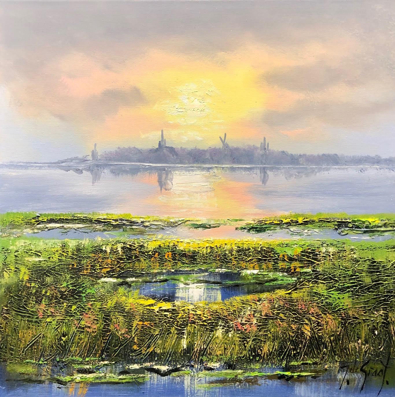 Jochem de Graaf schilderij 'Polder'