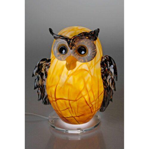 Arno France kristalglas uil lamp 'Amber'