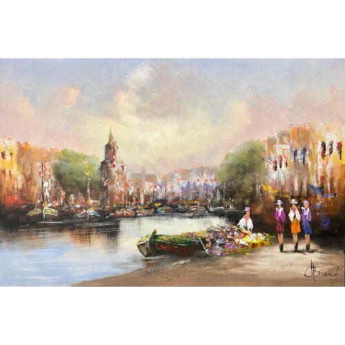 Henry Brand schilderij 'Stadshaven'