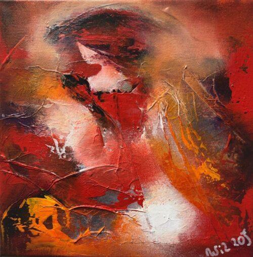 """Wil Lof schilderij """"Elyza III'"""
