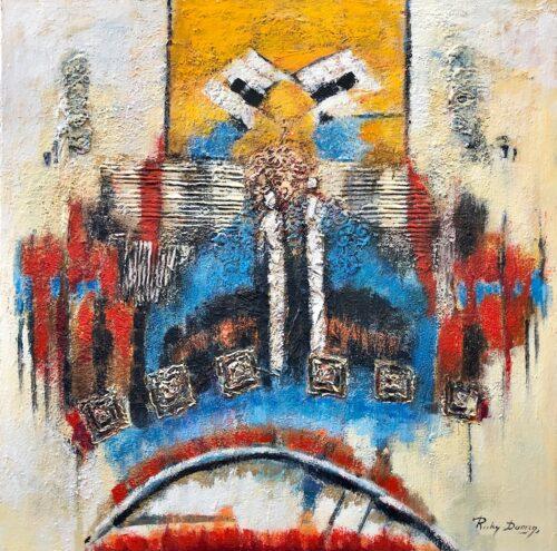 Ricky Damen schilderij 'Abstract Figures'