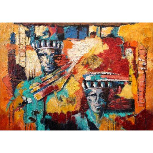 Ricky Damen schilderij 'Greece'