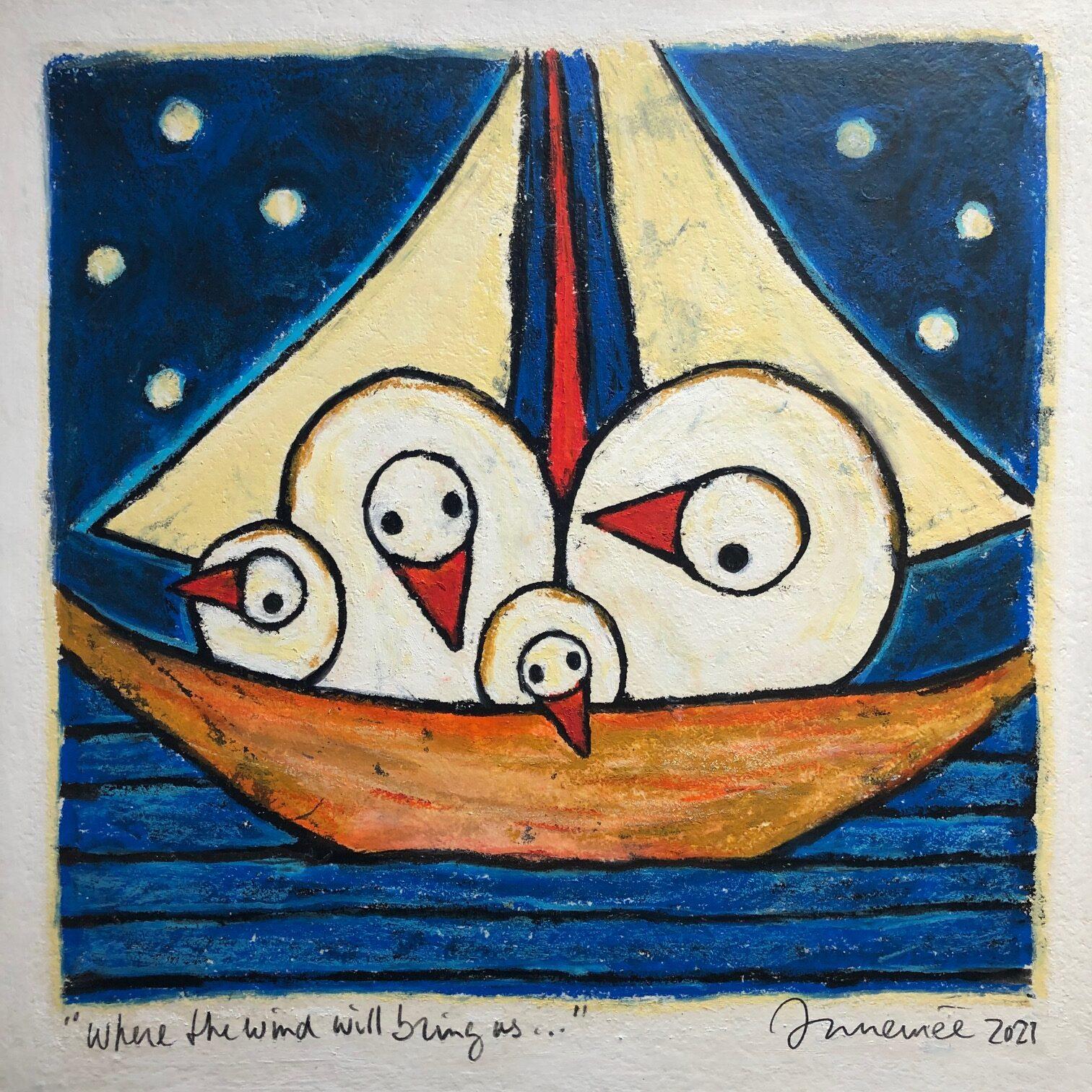 Hans Innemee schilderij 'Where the wind will bring us..'