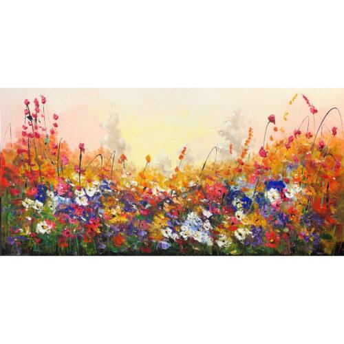 Jochem de Graaf schilderij 'Bloemenveld III'