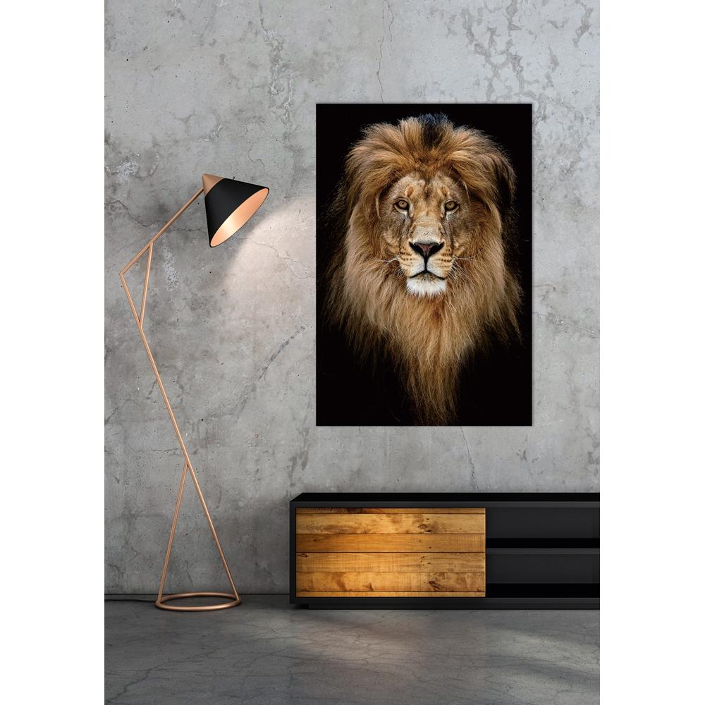 Foto op glas 'Lion King portrait'