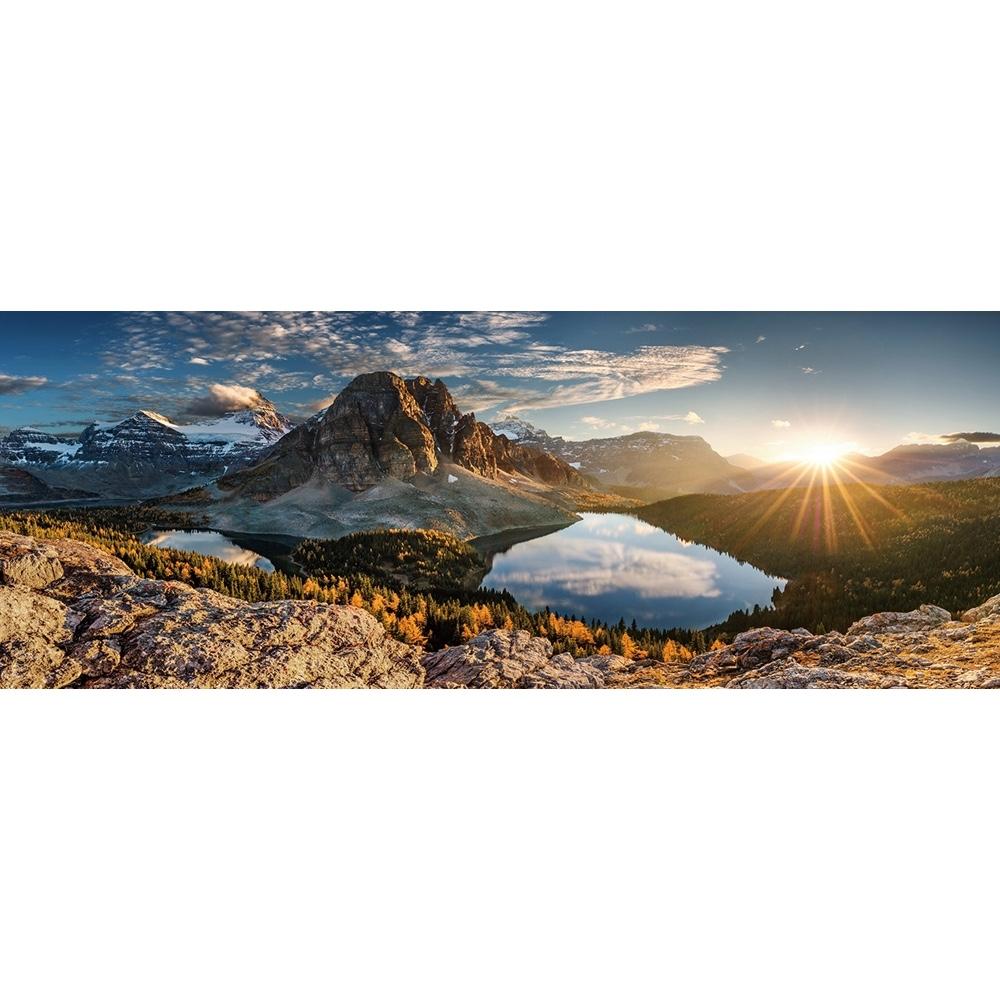 Foto op glas 'Mountain View'
